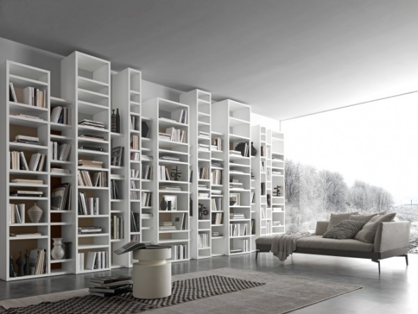 Mobila biblioteca Bianco