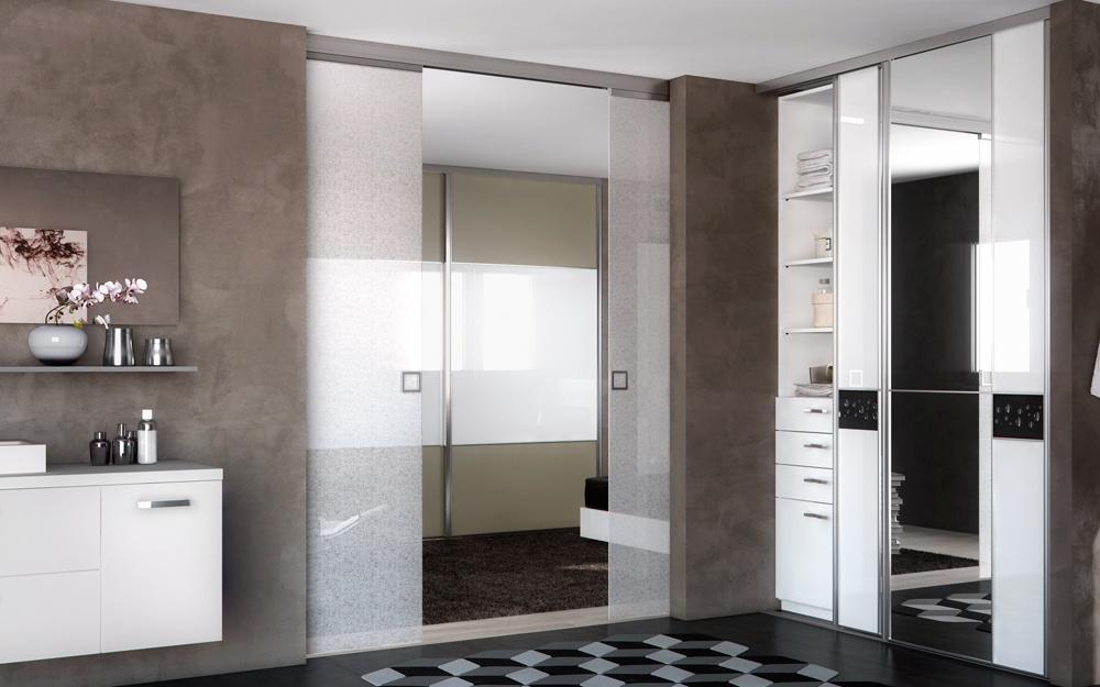 Usi glisante cu oglinda usi glisante prodesignart for Porte de salon a galandage